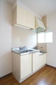 2口ガスコンロが設置可能なキッチン。