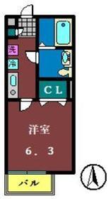 アクシス船橋2階Fの間取り画像