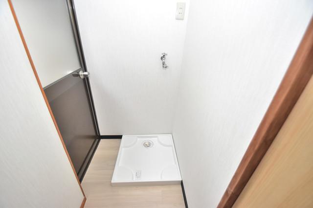 長堂2-16-8 貸家 嬉しい室内洗濯機置場。これで洗濯機も長持ちしますね。