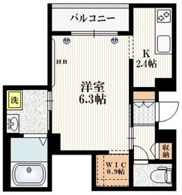 Mervelle oku-ekimae2階Fの間取り画像