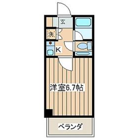 ウエストウィンハイム5階Fの間取り画像
