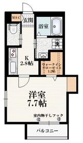 シンフォニア高松2階Fの間取り画像
