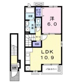 ミルレーヴⅢ2階Fの間取り画像