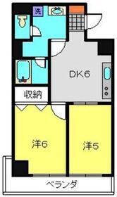 ロイヤルドレイク4階Fの間取り画像