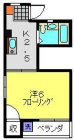 レジデンス新川崎2階Fの間取り画像