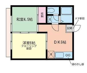 コーポスミレ1階Fの間取り画像