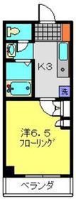 エルニシア横浜蒔田6階Fの間取り画像