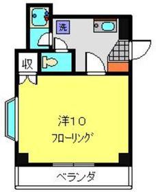 エレガンスサクラバ2階Fの間取り画像