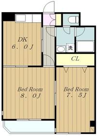 メゾンドA22階Fの間取り画像