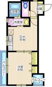 メゾン山手2階Fの間取り画像
