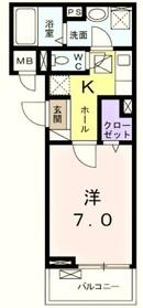 京王多摩川駅 徒歩8分2階Fの間取り画像