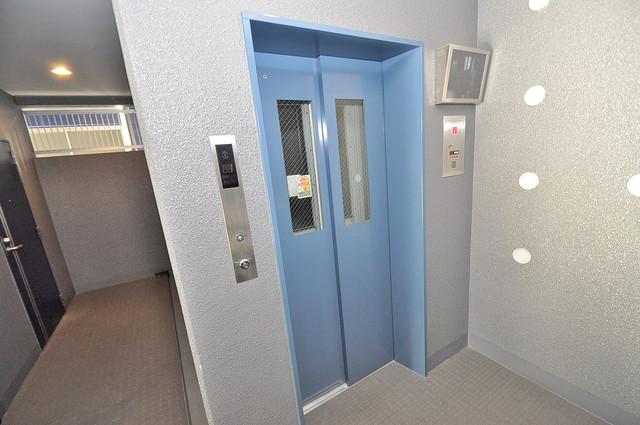 エグゼ大阪城東 嬉しい事にエレベーターがあります。重い荷物を持っていても安心
