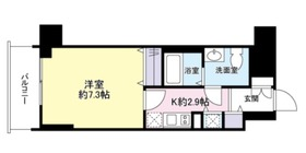 グロースメゾン新横浜10階Fの間取り画像
