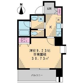 J・S深川高ばしビル4階Fの間取り画像