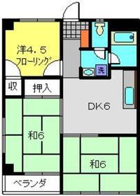 西綱島グリーンハイツ1階Fの間取り画像