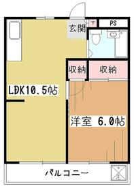 メビウス杉田2階Fの間取り画像