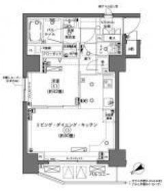 ZOOM横浜4階Fの間取り画像