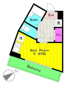 登戸駅 徒歩15分2階Fの間取り画像