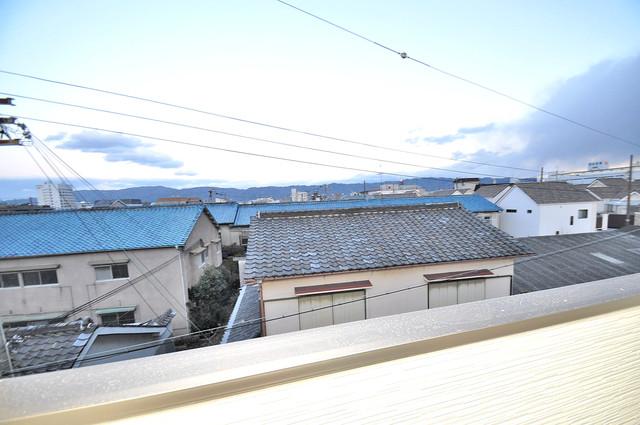 クリエオーレ南上小阪 バルコニーからの眺めも良いです。