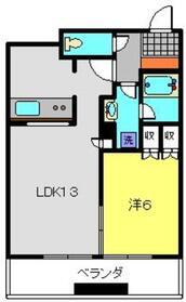 エクラスタワー武蔵小杉21階Fの間取り画像