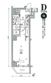 スカイコートパレス押上Ⅲ1階Fの間取り画像