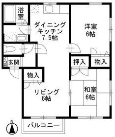 本厚木駅 バス10分「中村入口」徒歩3分1階Fの間取り画像