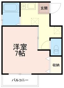 第3廣田マンション3階Fの間取り画像