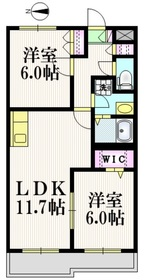 ローンヒルズヤハラ2階Fの間取り画像