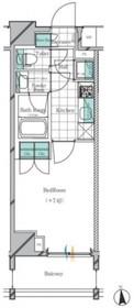 神楽坂駅 徒歩8分2階Fの間取り画像