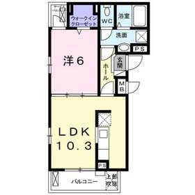 横須賀中央駅 バス26分「縦貫道下」徒歩2分2階Fの間取り画像