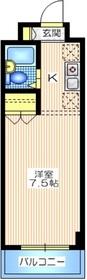 アルス川崎5階Fの間取り画像