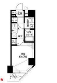 プレール・ドゥーク川崎7階Fの間取り画像