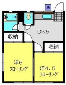 北村荘2階Fの間取り画像
