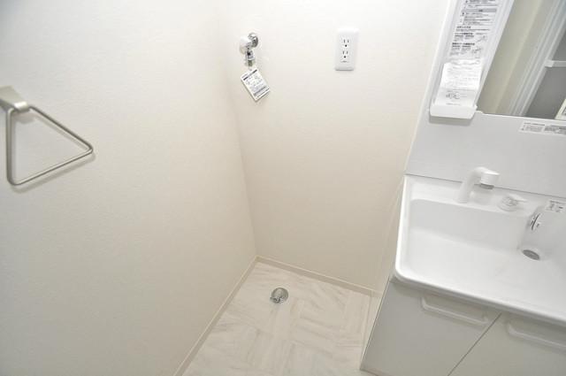 シャーメゾンプランタン 嬉しい室内洗濯機置場。これで洗濯機も長持ちしますね。