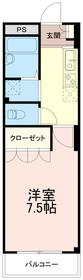 メゾンユーカリ1階Fの間取り画像