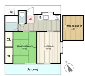 サンハイム2階Fの間取り画像