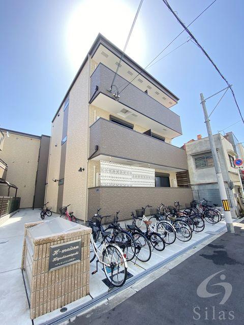 大阪市東住吉区照ケ丘矢田3丁目の賃貸アパートの外観