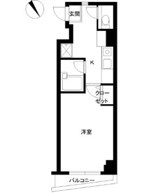 スカイコート文京小石川第35階Fの間取り画像