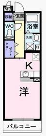 ジェルメ3階Fの間取り画像