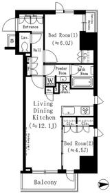 ルフォンプログレ文京湯島2階Fの間取り画像