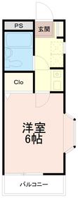 ソレイユ稲田堤2階Fの間取り画像