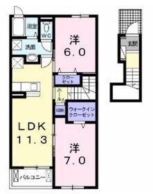 プリマヴェーラ B2階Fの間取り画像