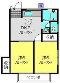 武蔵新城駅 徒歩12分1階Fの間取り画像