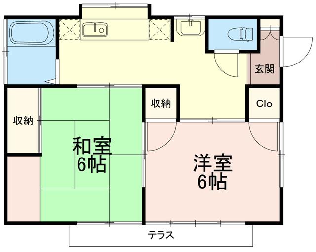 芦川貸家間取図