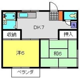 グリーンハイツC2階Fの間取り画像