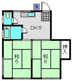 第3丸福荘2階Fの間取り画像