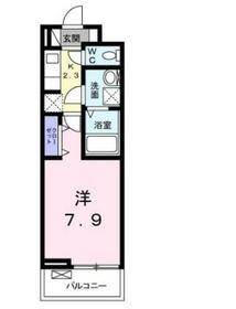 ペタル ドゥ サクラ12階Fの間取り画像