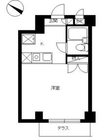 スカイコート大倉山1階Fの間取り画像