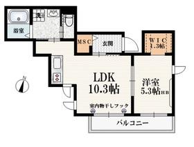 ラ・サンテ2階Fの間取り画像