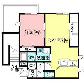 アリエッタ目黒本町2階Fの間取り画像